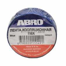 Изолента синяя ABRO (19 мм х 9,1 м) ЕТ-912 #