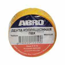 Изолента жёлтая ABRO (19 мм х 9,1 м) ЕТ-912 #