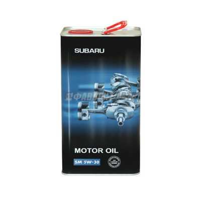 FF 6712 for SUBARU 5W30 API SM 4л ж/б масло моторное 10009230/150916/0005650/3 #