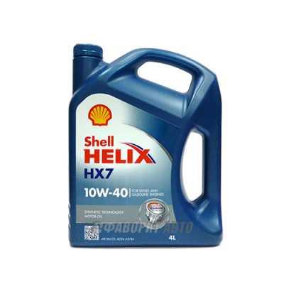 SHELL Helix HX7 10*40   4л синий (PLUS) #
